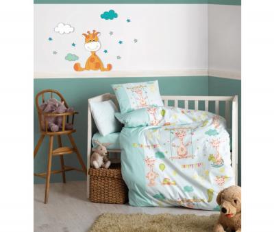 Комплект постельного белья детский Коттон Бокс в кроватку Zurafa Yesil