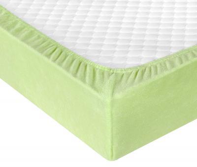 Простынь махровая на резинке Зеленый