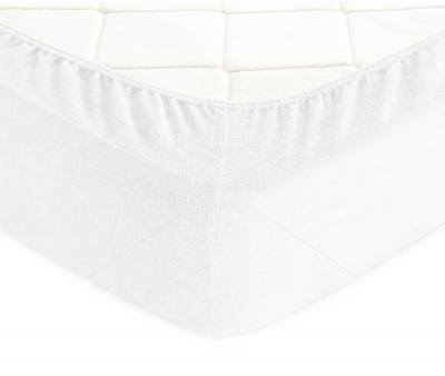 Простынь махровая на резинке Белый