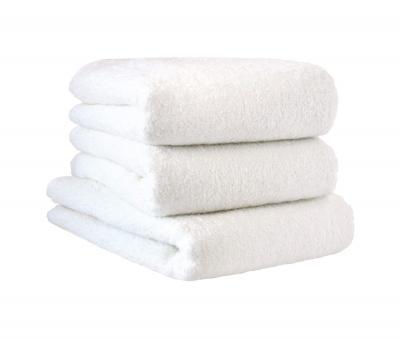 Полотенце махровое без бордюра 0000 Белое 500 гр