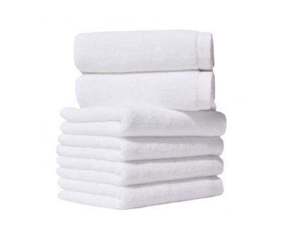 Полотенце махровое без бордюра 0000 Белое 400 гр