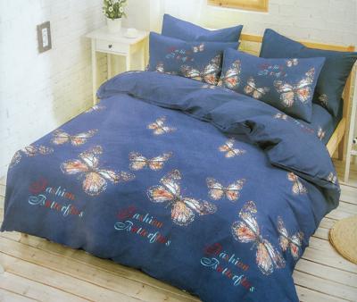 Комплект постельного белья Happy Night Бабочки на синем