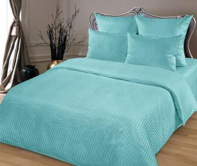 Комплект постельного белья Lotus Home сатин страйп Бирюзовый