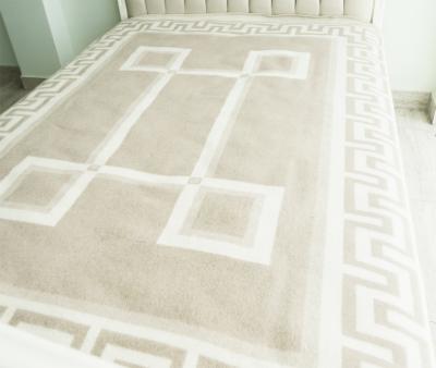 Одеяло шерстяное Греция бел-беж