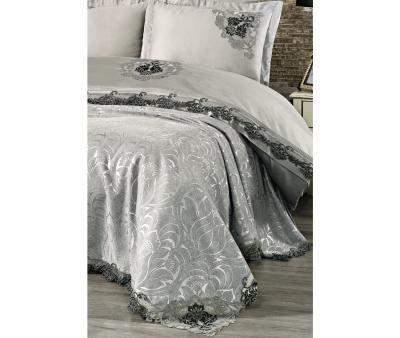 Комплект постельного белья Tivolyo Home Евро+ покрывало 240*260 Carina Gri