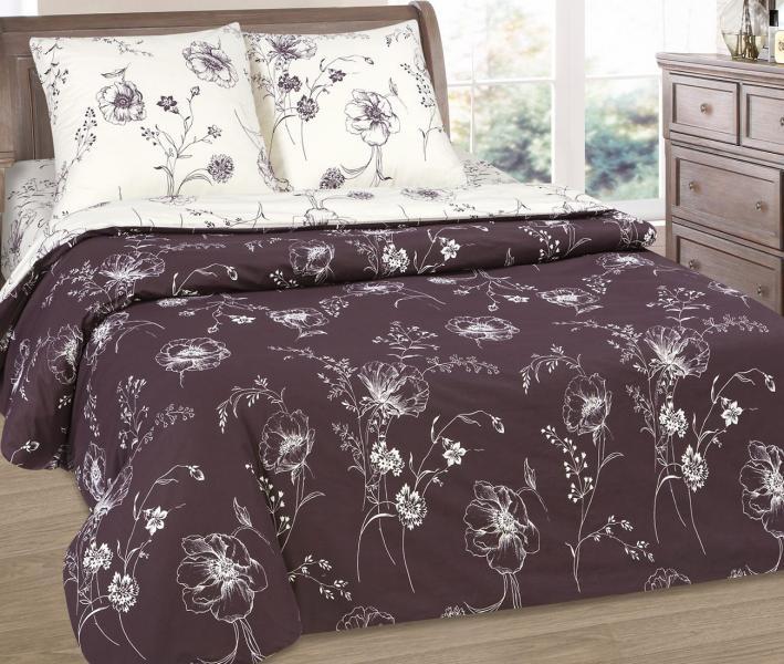 Комплект постельного белья  с простынью на резинке Арт-постель 931 поплин Каролина