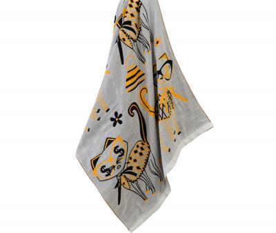 Полотенце Кошки желтый