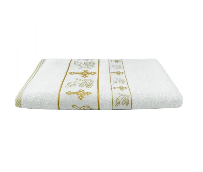 Крестильное полотенце Ангел Золото