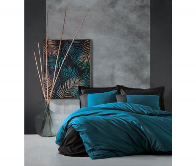 Комплект постельного белья Коттон Бокс ранфорс гладкий Petrol Siyah