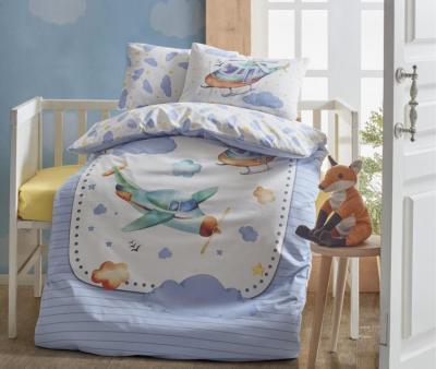 Комплект постельного белья детский Коттон Бокс в кроватку Air Plane Mavi