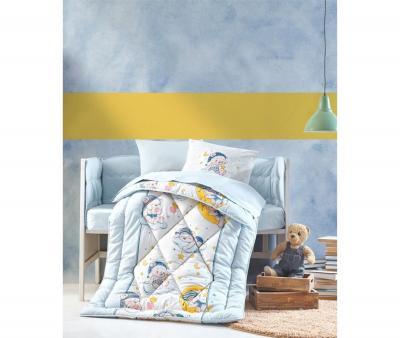 Комплект постельного белья детский Коттон Бокс в кроватку Bear Mavi