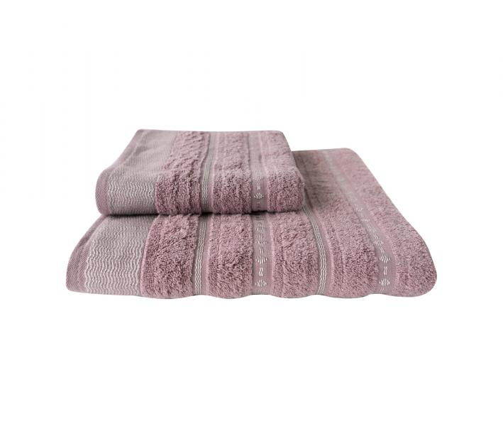 Полотенце махровое Cestepe CIZGILI Тёмно-розовый