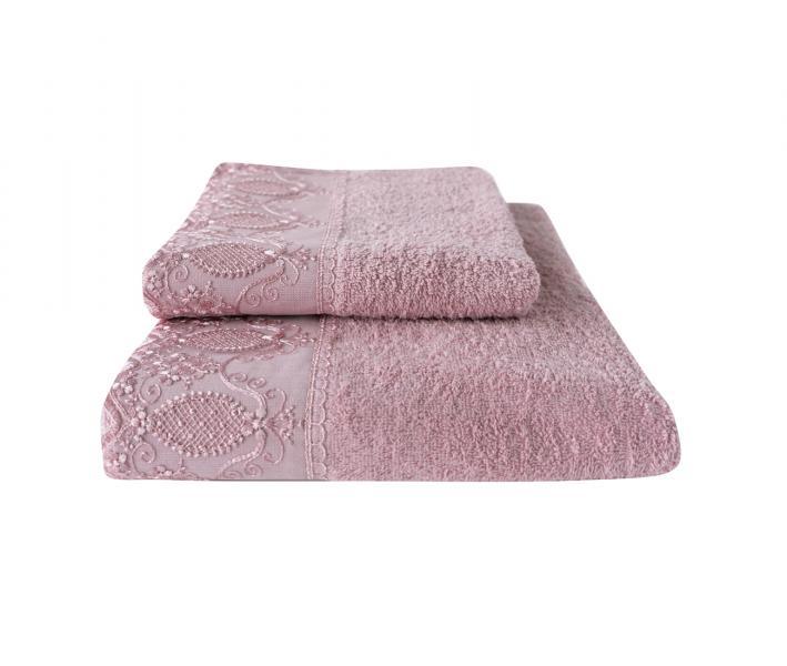 Полотенце MINTEKS Gizem Светло-розовый