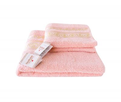 Полотенце Miss Cotton жаккард Волна Розовый