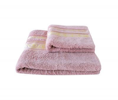 Полотенце Miss Cotton жаккард Волна Пепельно-розовый
