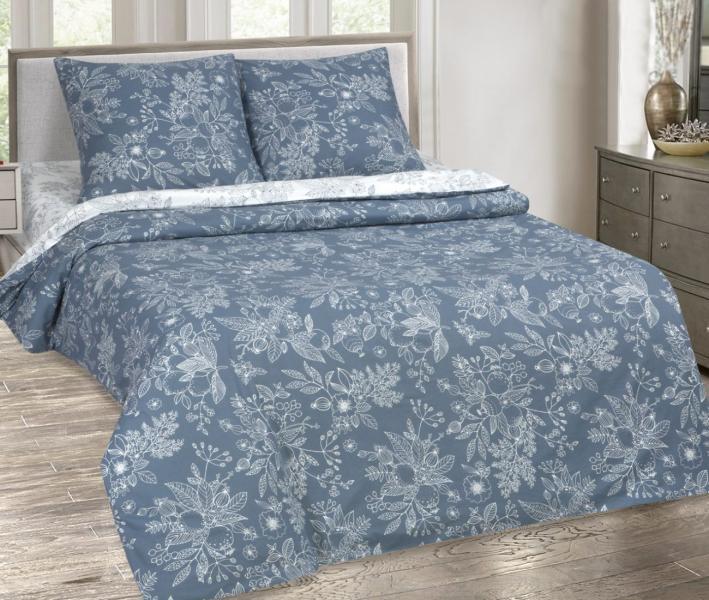 Комплект постельного белья  с простынью на резинке Арт-постель 931 поплин Деметра