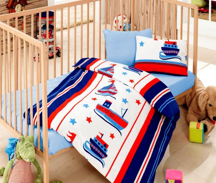 Комплект постельного белья детский Коттон Бокс в кроватку Denizci Mavi