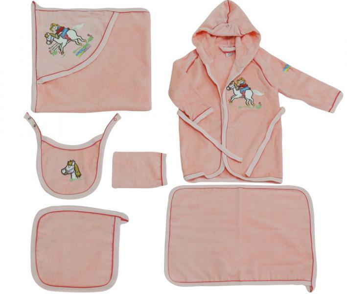 Детский банный набор Ramel 6 предметов 405 светло  розовый