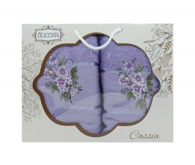 Набор полотенец DNZ Сакура 2 предмета Фиолетовый