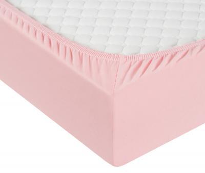 Простынь трикотажная на резинке Розовый