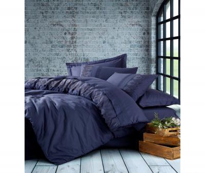 Комплект постельного белья Коттон Бокс Brode Ranforce с гипюром Enzo Lacivert
