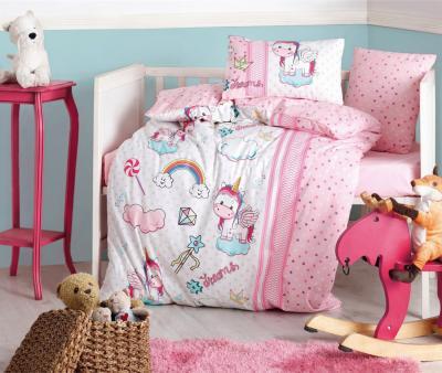 Комплект постельного белья детский Коттон Бокс в кроватку Unicorn Pembe