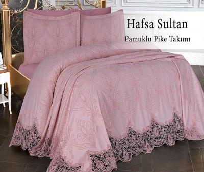 Комплект постельного белья Lotus Home+покрывало Hafsa Sultan Pink