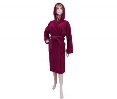 Халат женский махровый бордовый