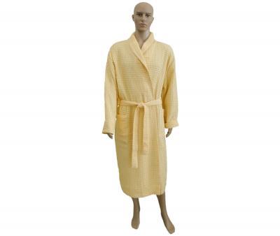 Халат вафельный жёлтый