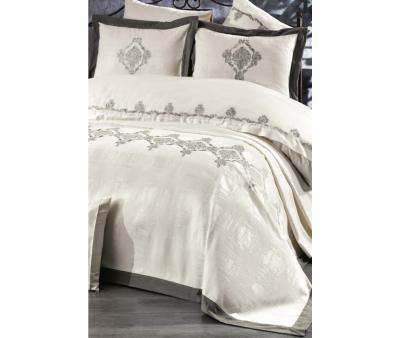 Комплект постельного белья Tivolyo Home Евро+ покрывало 240*260 Hanzade Krem