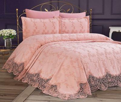 Комплект постельного белья Lotus Home+покрывало Hurrem Sultan Pink