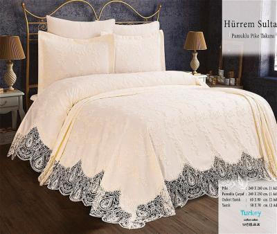 Комплект постельного белья Lotus Home+покрывало Hurrem Sultan Milky