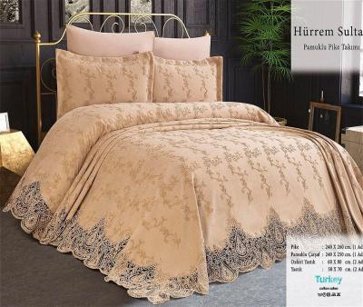 Комплект постельного белья Lotus Home+покрывало Hurrem Sultan Crem