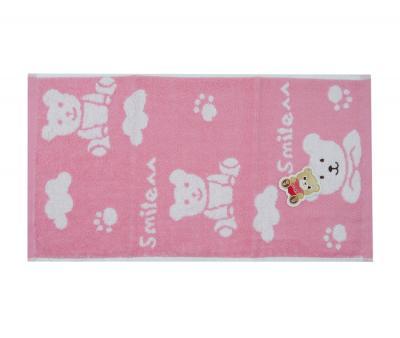 Полотенце детское махровое 25х50 Bear Розовый