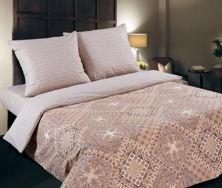 Комплект постельного белья  с простынью на резинке Арт-постель 932 поплин Италия