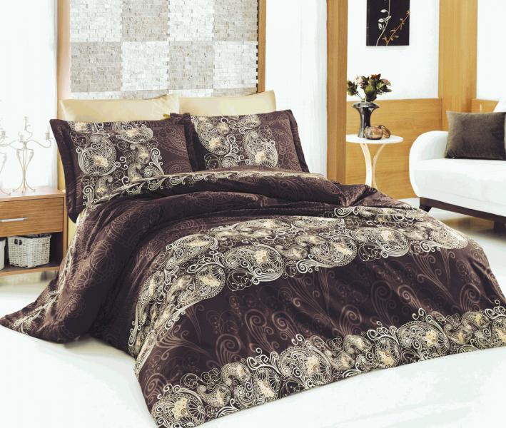 Комплект постельного белья Назезин Ivory Kahve