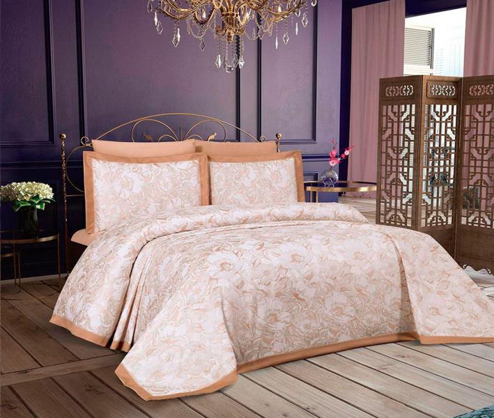 Комплект постельного белья Lotus Home+покрывало Jessica Gold