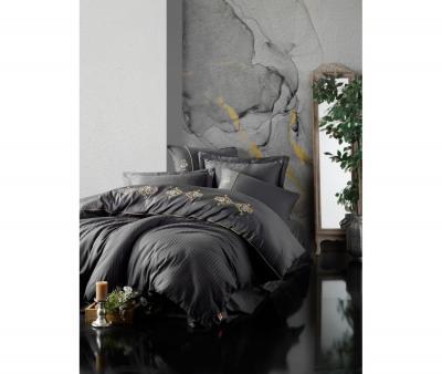 Комплект постельного белья Коттон Бокс 3D сатин King Antrasit