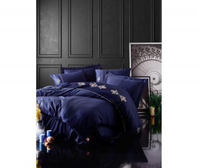 Комплект постельного белья Коттон Бокс 3D сатин King Lacivert