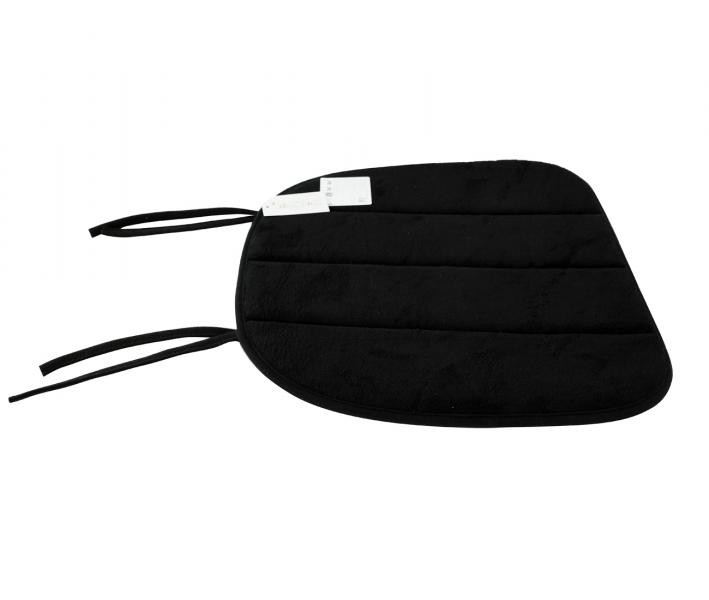 Подушка закругленная с пеной на стул Черный