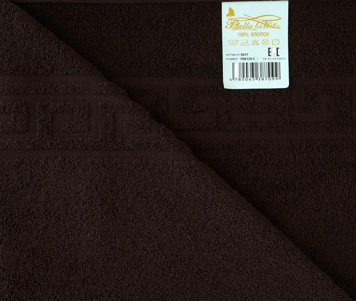 Полотенце Гладкокрашеное 1035 Тёмно-коричневый