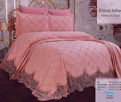 Комплект постельного белья Lotus Home+покрывало Kosem Sultan Pink