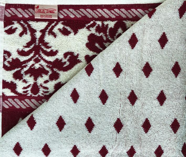 Полотенце махровое Пестроткань Бордо