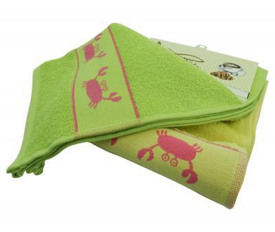 Комплект полотенец махровый 2 штуки Крабы