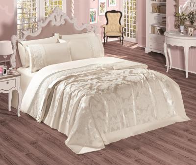 Комплект постельного белья Sekerbibi Pike Takimi + покрывало (6 предметов) Кремовый