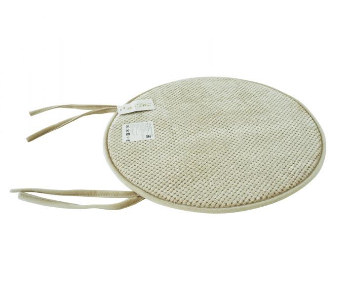 Подушка круг с пеной на стул выбивка Бежевый