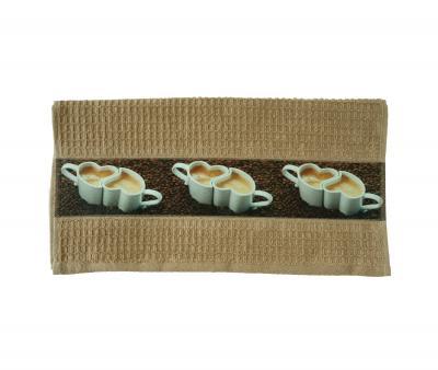 Полотенце кухонное махровое Кофе