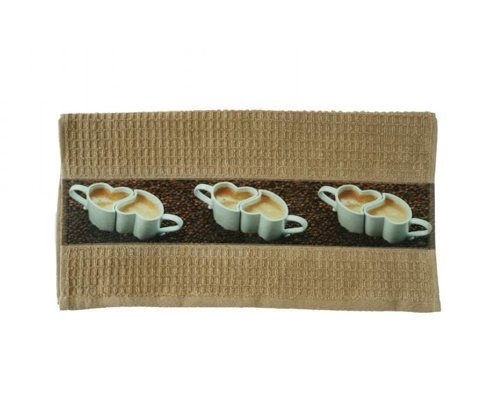 Полотенце кухонное махровое (40x60) Кофе