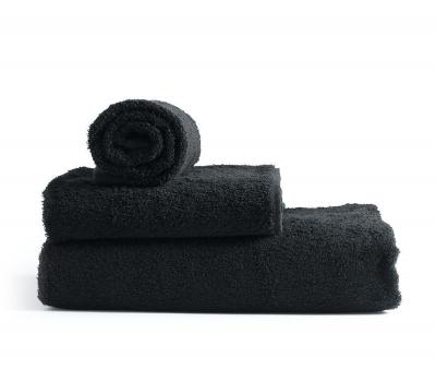 Полотенце махровое без бордюра 1000 Чёрный