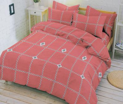 Комплект постельного белья Happy Night  Персиковая клетка